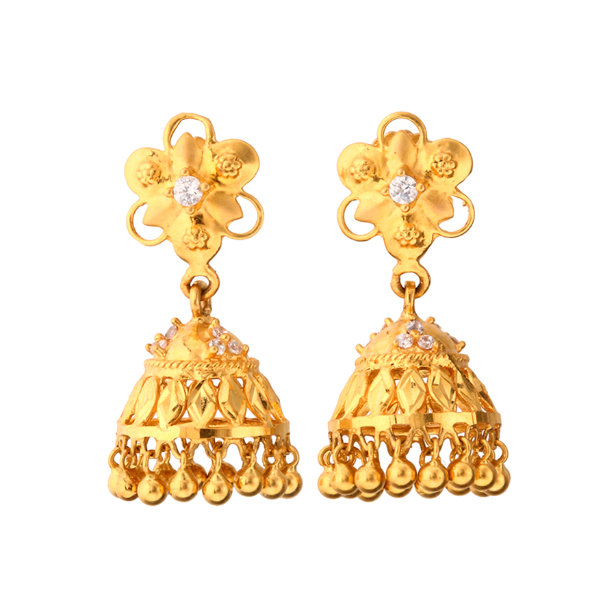 gold earring design online